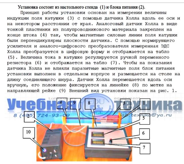 ИЗМЕРЕНИЕ ИНДУКЦИИ МАГНИТНОГО ПОЛЯ ФЭ-5