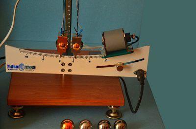 механика, фм, фм-17, соударение, шаров, лабораторная установка