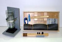 Набор моделей для демонстрации свойств материалов при низких температурах